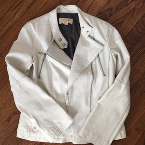 Michael Kors White Leather Jacket